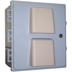 Ventev - V181610LO0HC-R - TerraWave V181610LO0HC-R Heated and Cooled Enclosure with Solid Door Rack Cabinet
