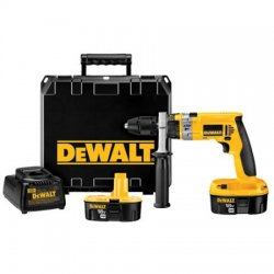 Dewalt - DCD959KX - DeWALT XRP 18 V Ni-Cad 450/1450/2000 RPM Cordless Hammer Drill/Driver Kit With 1/2' Chuck (Includes 1 Hour Charger, (2) 18 Volt XRP Batteries, 360 Side Handle And Heavy-Duty Kit Box), ( Each )