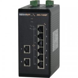 Signamax / AESP - 065-7408PTB - 8 Port (4 PoE) Unmanaged Ethernet DIN-Rail Switch