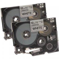 Ventev - TZ-231 2/PK - Black on White1/2 x 26' , P touch/2 each