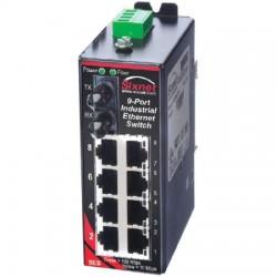 Red Lion Controls - SLX-9ES-2ST - SLX-9ES-2ST Sixnet SlimLine Plus unmanaged industrial Ethernet Switch with 8 RJ45 ports and 1 multimode fiber ST, 4 km