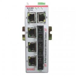 Red Lion Controls - SLX-8ES-7ST - SLX-8ES-7ST Sixnet SlimLine Plus unmanaged industrial Ethernet Switch with 5 RJ45 ports and 3 singlemode fiber ST, 20 km