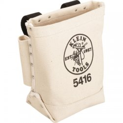 Klein Tools - 5416 - Beige Tool Pouch, Canvas, Fits Belts Up To (In.): 3