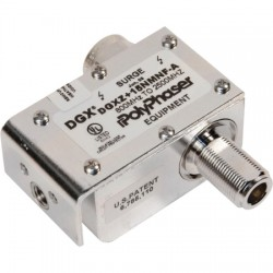 Smiths Power - DGXZ+15NMNF-A - PolyPhaser DGXZ+15NMNF-A Hybrid +15VDC Pass RF Lightning Protector, 800MHz to 2.5GHz, N-Male to N-Female