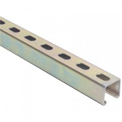 Thomas & Betts - A1200HS 10 - Superstrut A1200HS 10 Channel - Elongated Holes, Steel, Gold, 1-5/8 x 1-5/8 x 10'