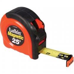 Lufkin - L725MAG - 25 ft. Steel SAE Magnetic Tip Tape Measure, Black/Orange