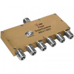 MECA Electronics - 806-4-1.500V - 800-2200 MHz 6-Way Pwr Divider w/ N Females