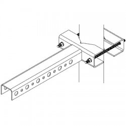 CommScope / Andrew - SS-TB6080 - Large Star Support T Bracket