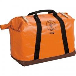 "Klein Tools - 5180 - 1-Pocket Nylon General Purpose Tool Bag, 24""H x 18""W x 10""D, Orange"