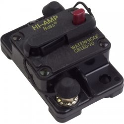 Cooper Bussmann - CB185-70 - CB185 Series Automotive Circuit Breaker, Plug In Mounting, 70 Amps, Blade Terminal Connection