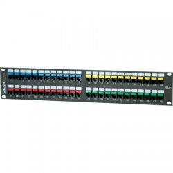Signamax / AESP - 48458FTHD-C5E - 48 Port Category 5e High Density Feed-Thru Panel.