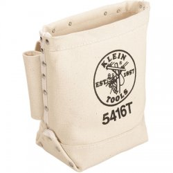 Klein Tools - 5416T - CANVAS BOLT BAG with 2 Bull pin loops, TUNNEL loop