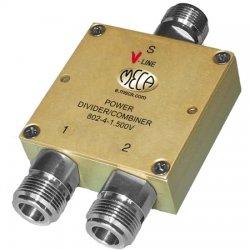 MECA Electronics - 802-4-1.500V - 800-2200 MHz 2-Way Pwr Divider w/ N Females
