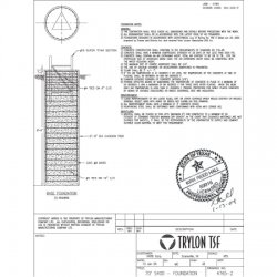 Trylon - 4.77.0101.300 - SuperTITAN P.E Stamped Drawings, Custom Foundation