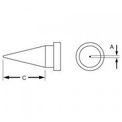 Weller / Cooper Tools - LTS - Weller LTS .016in x .79in Reach Round LT Series Tip