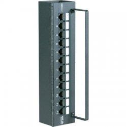 Signamax / AESP - 12458MH-C5E - 12 Port CAT5e 110 Mini Panel, Hinged