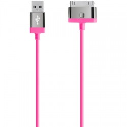 Belkin / Linksys - F8J041TT04-PNK - MIXIT UP Round ChargeSync 30-pin Cable 4ft. Pink