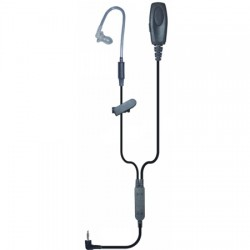 Klein Electronics - PATRIOT-PRO-SO - Patriot Push-To-Talk Acoustic Tube Earpiece Black