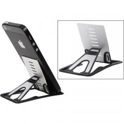 Nite-Ize - QSD-01-R7 - Nite Ize QuikStand Mobile Device Stand - 3.4 x 2 x 0.2 - Anodized Aluminum, Polypropylene - 1 Unit - Black, Silver