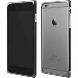 Adopted - APH13230 - Leather Frame Case iPhone 6/6s Plus Gray/Charcoal