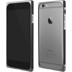 Adopted - APH13225 - Leather Frame Case Apple iPhone 6/6s Gray/Charcoal