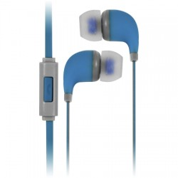 AlphaComm - C-EP909-BLU - Color Burst In-Ear Headphones in Blue Blaze