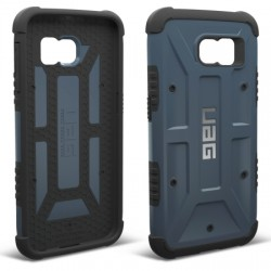 Urban Armor Gear - UAG-GLXS6-SLT-W/SCRN-VP - Urban Armor Gear Smartphone Case - Smartphone - Slate, Black - Embossed UAG Logo, Hexagonal Pattern, Textured - Feather Lite