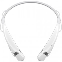 LG Electronics - 10739VRP - LG Tone Pro HBS-760 Headset - Stereo - White - Wireless - Bluetooth - Behind-the-neck, Earbud - Binaural - In-ear - MEMS Technology Microphone
