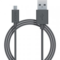 Incipio - PW-200-GRY - Incipio Charge/Sync Micro USB Cable - USB - 3.28 ft - 1 x Type A Male USB - 1 x Male Micro USB