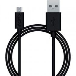 Incipio - PW-200-BLK - Incipio Charge/Sync Micro USB Cable - USB - 3 ft - 1 x Type A Male USB - 1 x Male Micro USB - Black