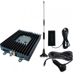 Cellphone-Mate / Surecall - SC-DUALM-50-KIT - 50dB Dual-Band Manually Adjustable Booster Kit for All Size Vehicles (Includes Magnetic Antenna, Patch Antenna & DC Power Adapter)