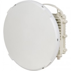 Siklu Communication - EH-1200FX-ODUL1FT - EtherHaul-1200FX E-Band 80GHz FDD ODU with 1ft Integrated Antenna, Tx Low transmitting at 71-76GHz. 1000Mbps Full Duplex with 2 GE Copper ports