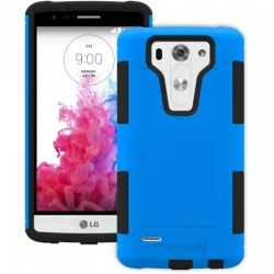 AFC Trident - AG-LGG3MN-BL000 - Trident Aegis Case for LG G3 S - Smartphone - Blue - Textured - High Gloss - Silicone, Polycarbonate, Thermoplastic Elastomer (TPE) - 48 Drop Height