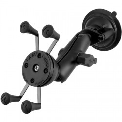 RAM Mounting Systems - RAM-B-166-UN7U - RAM Mount Twist Lock Suction Cup Mount with Universal X-Grip Cell Phone Holder - Aluminum, Stainless Steel