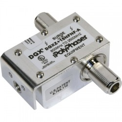 Smiths Power - DGXZ+15TFTF-BN - PolyPhaser DGXZ+15TFTF-BN Hybrid +15VDC Pass RF Lightning Protector, 800MHz to 2.5GHz, TNC-Female to TNC-Female