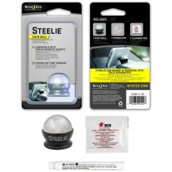 Nite-Ize - STDM-11-R7 - Nite Ize Steelie - Dash Ball Component Kit - Horizontal, Vertical - Aluminum, Steel, Silicon - 1 Unit
