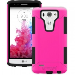 AFC Trident - AG-LGG3MN-PK000 - Trident Aegis Case for LG G3 S - Smartphone - Pink - Textured - High Gloss - Silicone, Polycarbonate, Thermoplastic Elastomer (TPE) - 48 Drop Height