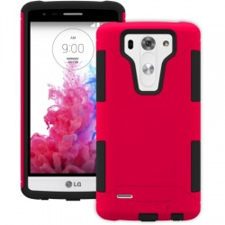 AFC Trident - AG-LGG3MN-RD000 - Trident Aegis Case for LG G3 S - Smartphone - Red - Textured - High Gloss - Silicone, Polycarbonate, Thermoplastic Elastomer (TPE) - 48 Drop Height