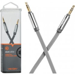 Ventev - AUXCABLEGRYVNV - aux cable 4ft. for 3.5mm Devices in Gray