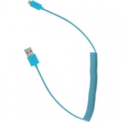 AlphaComm - C-CUSB124-BLU - Color Burst Round Micro Cable 5ft. in Blue Blaze