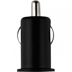 AlphaComm - C-CAR0704-BLK - Color Burst Car Charger Single 1A in Black Ink