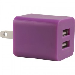 AlphaComm - C-DWALL931- PNK - Color Burst Wall Charger Dual 2A in Pink Pop