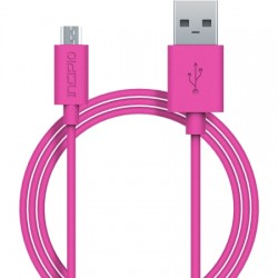Incipio - PW-200-PNK - Incipio Charge/Sync Micro USB Cable - USB - 3 ft - 1 x Type A Male USB - 1 x Male Micro USB - Pink