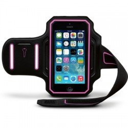 Body Glove - 9487801 - Endurance Armband for Apple iPhone 6 in Black/Pink