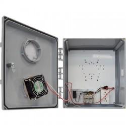 Ventev - V14126KO-4.5HC - 14x12x6 H/C Enclosure. Solid Door/Key Lock