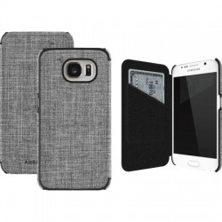 Adopted - AGS11103 - Soho Folio Case for Samsung Galaxy S6 in Ash/Black