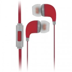 AlphaComm - C-EP909-RED - Color Burst In-Ear Headphones in Liquid Red