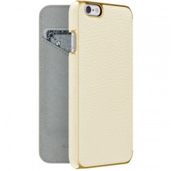 Adopted - APH13243 - Leather Folio Case for iPhone 6s/6 in White/Gold