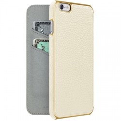 Adopted - APH13247 - Leather Folio Case for iPhone 6s/6 Plus White/Gold