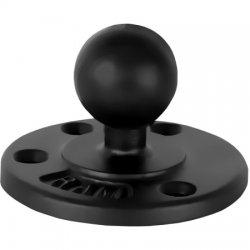 RAM Mounting Systems - RAM-B-101LU - 1 Diameter Ball Mount with 2/2.5 Round Bases & Locking Knob